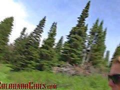 Mamada en el lago - Colorado reales niñas - Gracelynn gemidos
