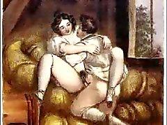 Erotische Biedermeier Staal Etsen - Johann Nepomunk Geiger