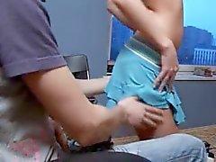 Russische tieners bonzen in het kantoor