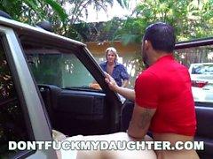 DON'T FUCK MY DAUGHTER - Naughty Sierra Nicole Fucks The Carwash Man
