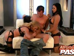 Audrey Bitoni and Taylor Wane are buxom pornstars, working