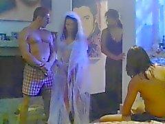 La novia follada por dos individuo antes del matrimonio