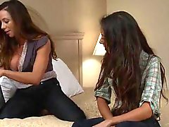 Trinity St Clair And Ariella Ferrera Labia Lip Kissing