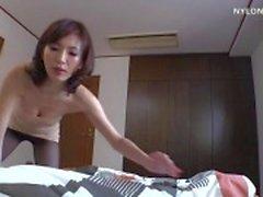 magere vrouw panty pijpbeurt nylon sex