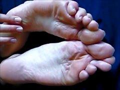 Amador Pé Soles e pés grandes Toes show longo HD