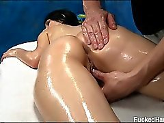 Sexy 18 year old Callie gets fucked hard from behind by her
