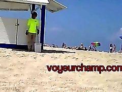 voyeurchamp #Exhibitionist Жена Никки пляжа Поддразнивание Бразилии