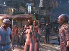 Fallout 4 gangbang público en Diamond City