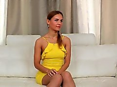 Fake russian casting with glam amateur