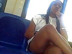 Sexy Benen op de metro bus