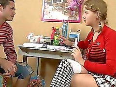 Horny teen fucked by her teacher