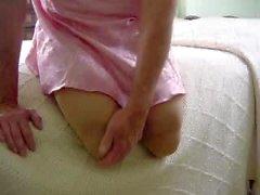 Double amputee women massaged her stumpies