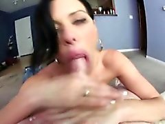 Tit fucked busty babe sucking cock