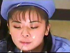 petite amie asiatique amateur cogné et éjac faciale