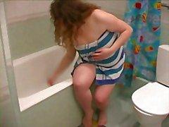 Vet BBW Ex GF , die douche , scheren benen en Pussy