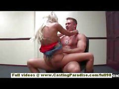 Breanne Benson amateur blonde girlfriend fucking hard and gets cumshot