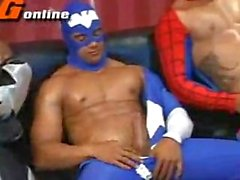 Superheroes (spiderman batman cap)