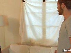 Длинные волосы рыжий геи Джеймсе Jamesson обеспечивает минет и трахнут