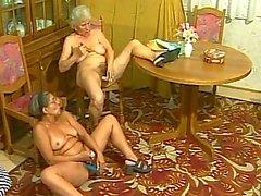 Horny granny gets hard fucked from behind