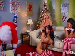 Nikki Benz , Jessican Jaymes & Amyn Andersenin Haista joulupukki !