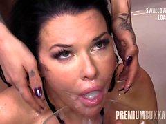 Premium Bukkake - Veronica Avluv swallowing