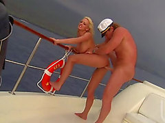 Breasty Blond Pornstar Stormy Daniels Titty Copulates The Boat's Captain