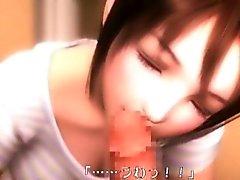 Sött 3D Porn harlot ger fellation
