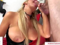 Big Tits Pornstar Abbey Brooks Sexo Bruto & A Facial Sujo de um galo enorme