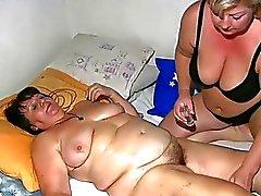 Old knubbig grannyen har massage av BBW moget Nurs