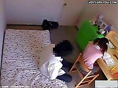 A pervert tutor planted hidden cameras