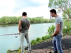 Cock sticking out of shorts in public gay Fishing For Ass To