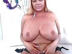 Huge boobs shemale Holly Sweet cums hard