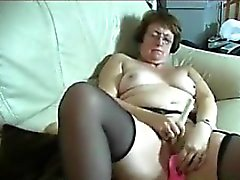 Horny Granny Masturbates With Adult Toys
