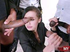 Hot Pornstar dp y facial