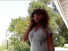 Ebony MILF violetti korkokengät