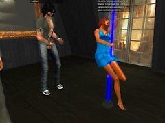 Second life - Venicie sexy dans sa jolie mini robe bleu moulante