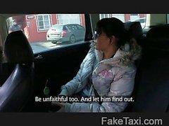 Jaded girlfriend fucks taxi man