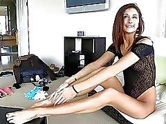 Jody Anal adolescente bonito e muito Leggy