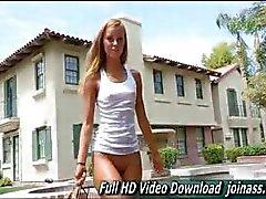 Jessi Angelic geconfronteerd meisje net 18 doet volwassene op camera