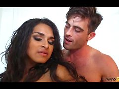 Sexy Mexican ladyboy Shaidel fucks guy