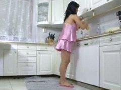 zwangere neuken in de keuken