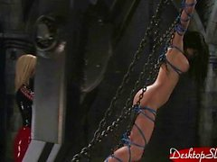 Aria Giovanni and Isis Love Water Bondage Par