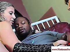 Sara Jay and Ava Devine interacial ffm