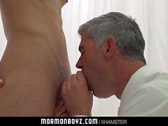 Dom daddy plows sub boy bareback