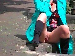 Dutch Sesso con suocera Goes Flashing attraverso la città