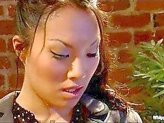 Asiática Lesbians Love niñas blancas
