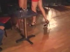 Two crossdressers fuck with guy