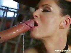 Curious brunette wife India Summer tries some anonymous S&M