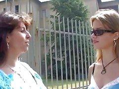 Italienska tonåring har en gammal lärare