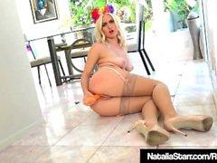 Lingerie Babe Natalia Starr Dildo Bates Her Creamy Cunt!